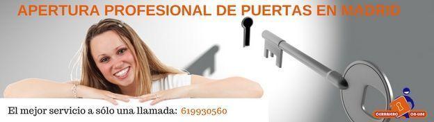 Profesionales para abrir puertas en Madrid