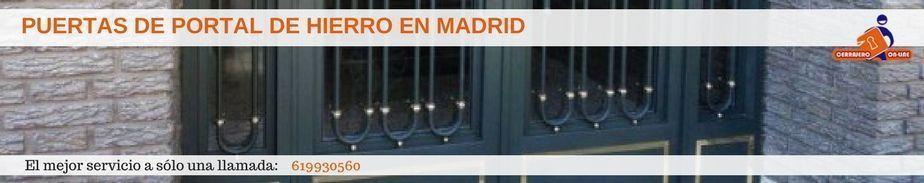 Puertas de portal de hierro en Madrid